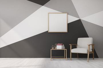 Living room, geometric pattern, poster