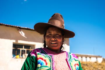 Portrait of a Peruvian woman