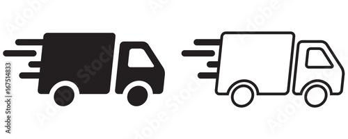 camion de livraison rapide fichier vectoriel libre de droits sur la banque d 39 images fotolia. Black Bedroom Furniture Sets. Home Design Ideas