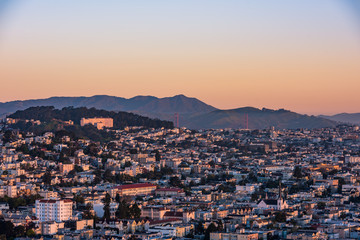 The Bernal Heights Park View of the Golden Gate Bridge
