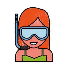 Snorkel mask design
