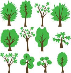 Vector green Tree. Clip Art