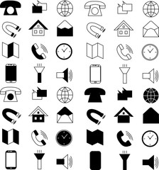 Technology web icon set