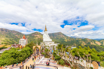 PHETCHABUN , THAILAND - JANUARY 3, 2017: Wat phasornkaew is  one of the most important for meditation and beautiful landscape view   or popular place in Phetchabun , Thailand.