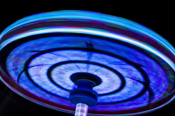 Rotating colored lights