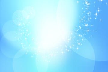 ブルーのボケ 光 背景