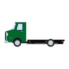 truck cabin trailer transport wheels motor vector illustration