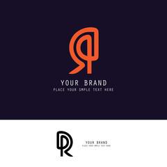 letter R typographic logo