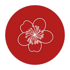 japanese flower isolated icon vector illustration design