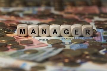 MANAGER - Bilder mit Wörtern aus dem Bereich Onlinemarketing, Wort, Bild, Illustration