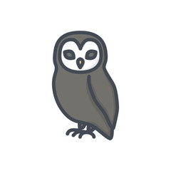Halloween holiday colored icon owl bird