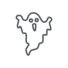 Halloween holiday line icon ghost