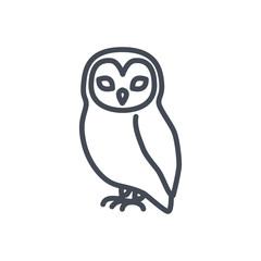 Halloween holiday line icon owl bird