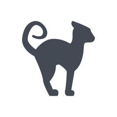 Halloween holiday silhouette icon black cat animal