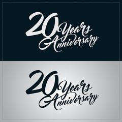 20 years anniversary celebration logotype