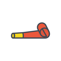 Party celebration colored icon noisemaker