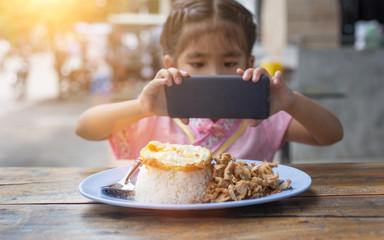new generation behavior take photo food and share