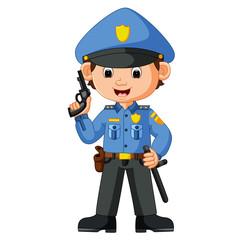 cute policeman cartoon