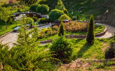 Landscape design. Beautiful background. Nature. Park