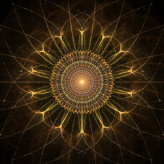 Gold Star, Abstract Fractal Design