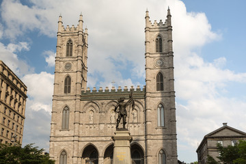 Notre Dame Basilica in Montreal Quebec Canada