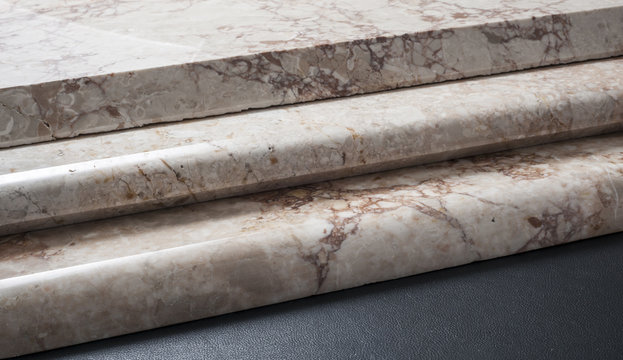 marble plates with variety of edge finishing