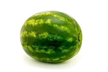 Ripe watermelon on white background