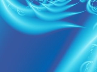 Blue modern abstract fractal art. Unique background illustration with stylized feather or wing shapes. Creative graphic template for projects, layouts, designs, banners, book covers, cards, leaflets