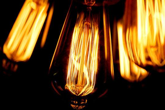 Illustration photo of tungsten lightbulbs
