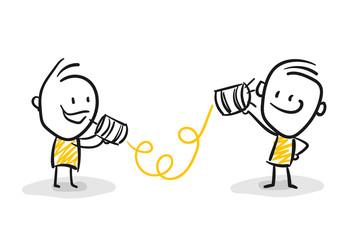 Strichfiguren / Strichmännchen: Strategie, Unterhaltung, telefonieren. (Nr. 58)