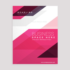 pink geometric brochure flyer business annual report laflet cover design template