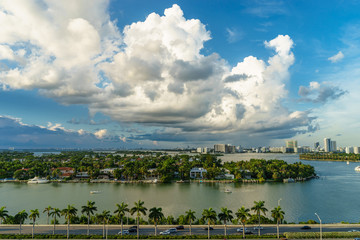 View of the Miami from a cruise liner