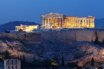Acropolis Athens Greece blue hour
