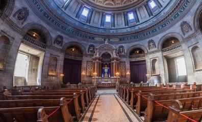 COPENHAGEN, DENMARK - AUGUST 26, 2016: Interior of Frederik's Church, popularly known as The Marble Church in Copenhagen, Denmark
