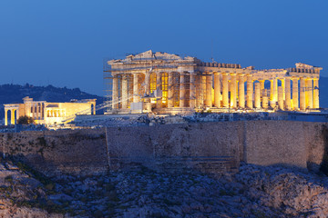 Parthenon in Athens at sunset