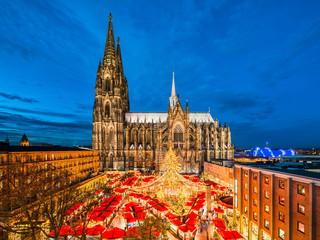 Weihnachtsmarkt in Köln, Deutschland