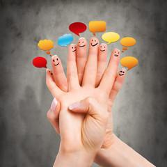 Finger beim unterhalten