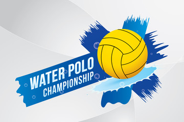 Vector  illustration of water polo sport design.
