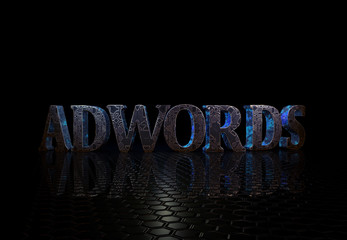 Adwords, 3D Text,