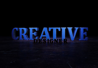 Creative Designer, 3D Text,