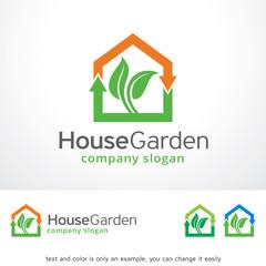 House Garden Logo Template Design Vector, Emblem, Design Concept, Creative Symbol, Icon