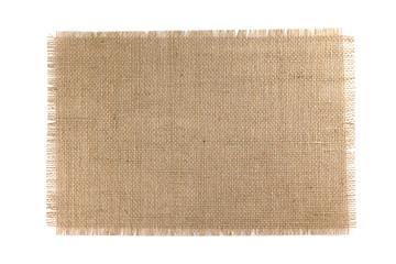 Burlap Fabric isolated on white background