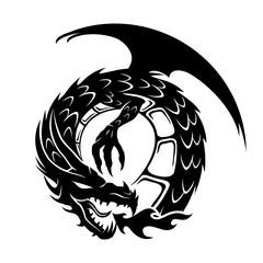 Round dragon sign.