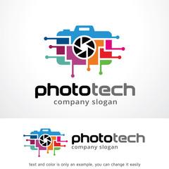 Photo Technology Logo Template Design Vector, Emblem, Design Concept, Creative Symbol, Icon