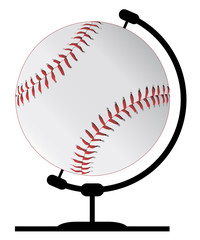 Mounted Baseball On Rotating Swivel