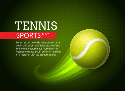 Tennis championship or tournament poster background. Vector tennis competition game illustration