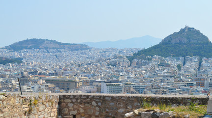 ATHENS, GREECE - JUNE 16: City view from Acropolis in Athens, Greece on June 16, 2017.