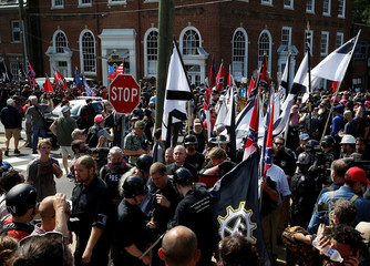 White supremacists rally in Charlottesville, Virginia