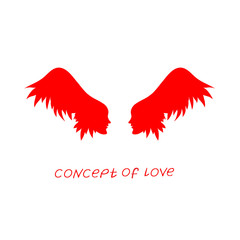 Icon of love. Vector illustration, metaphor of passion. Template for Valentine's day.