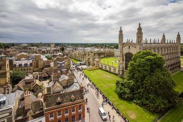 Panoramic view of Cambridge city centre